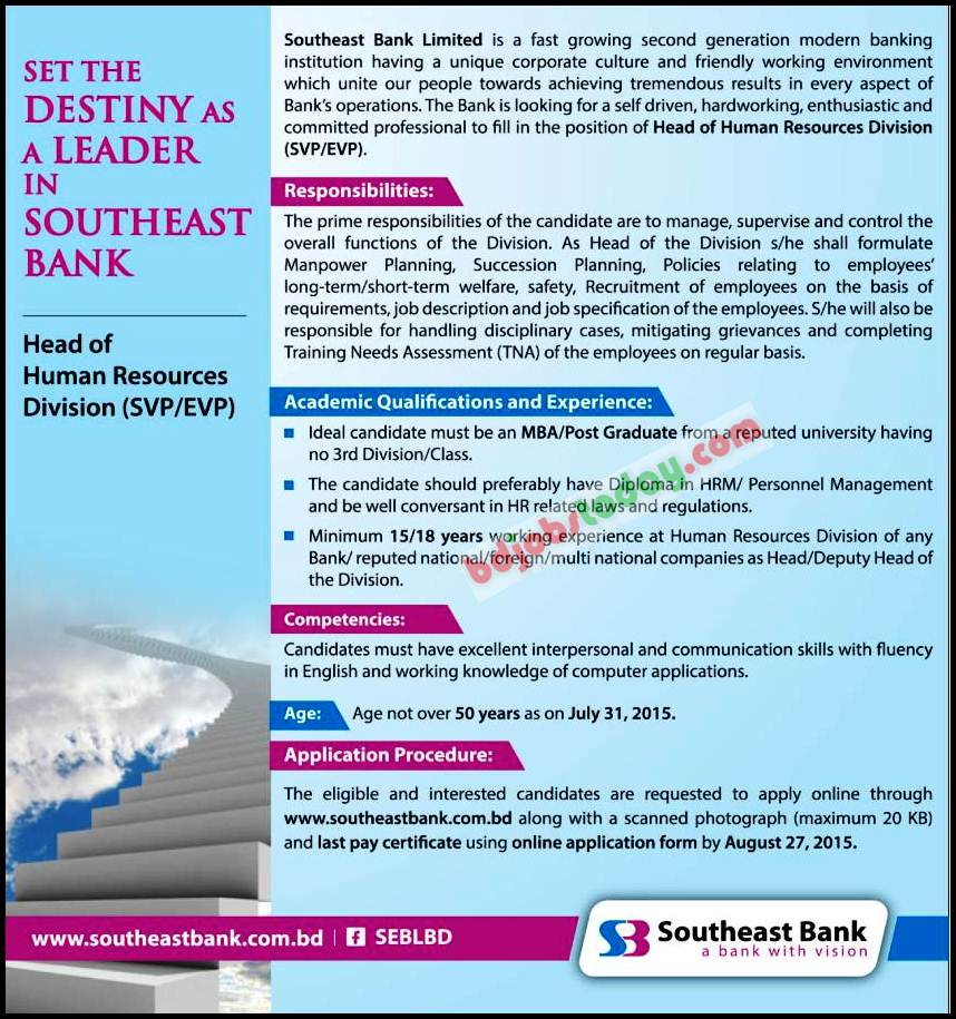 southeast bank ltd Southeast bank ltd is a holding company, which engages in the provision of commercial banking services it provides deposit banking loans and advances export import financing and inland and.