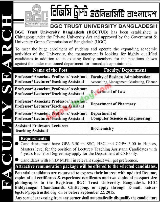 bgc trust university bangladesh   u0026quot professor  associate