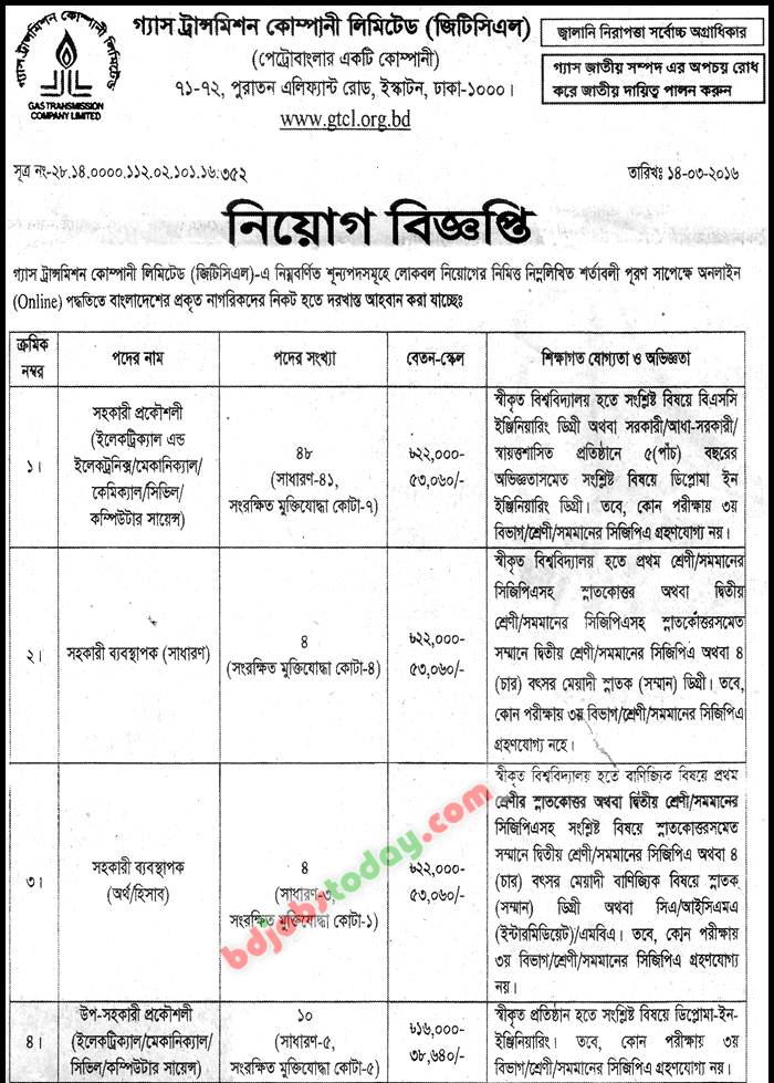 Gas Transmission Company Limited jobs