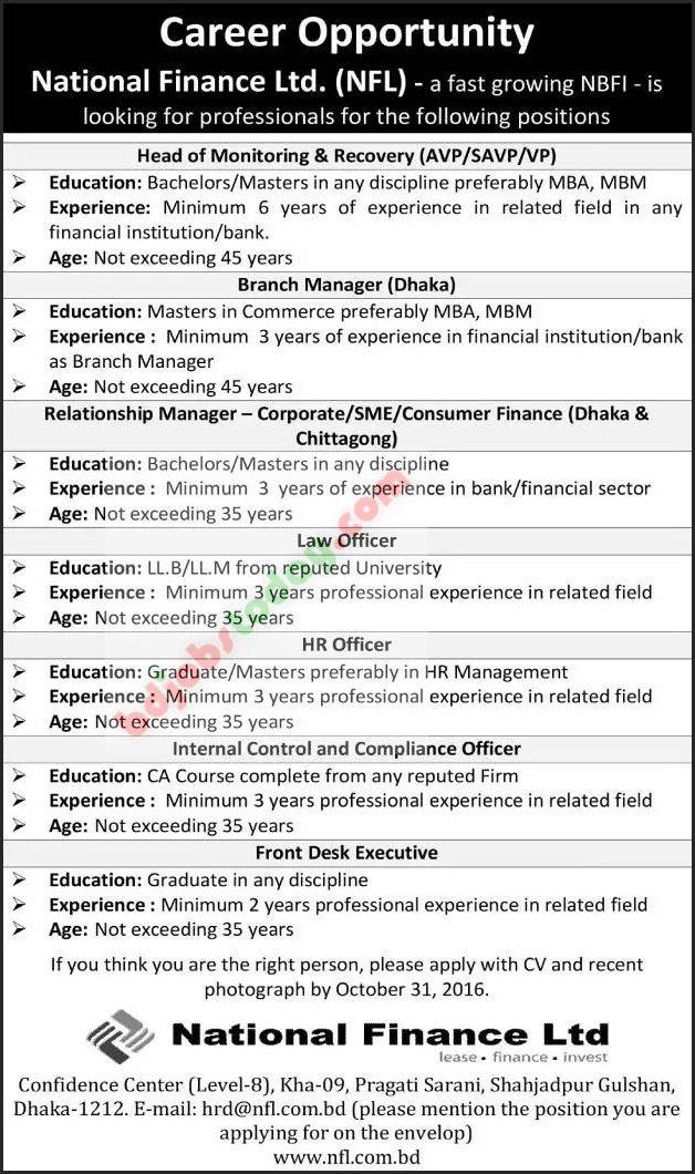 National finance ltd internal control compliance officer jobs - Assistant compliance officer salary ...