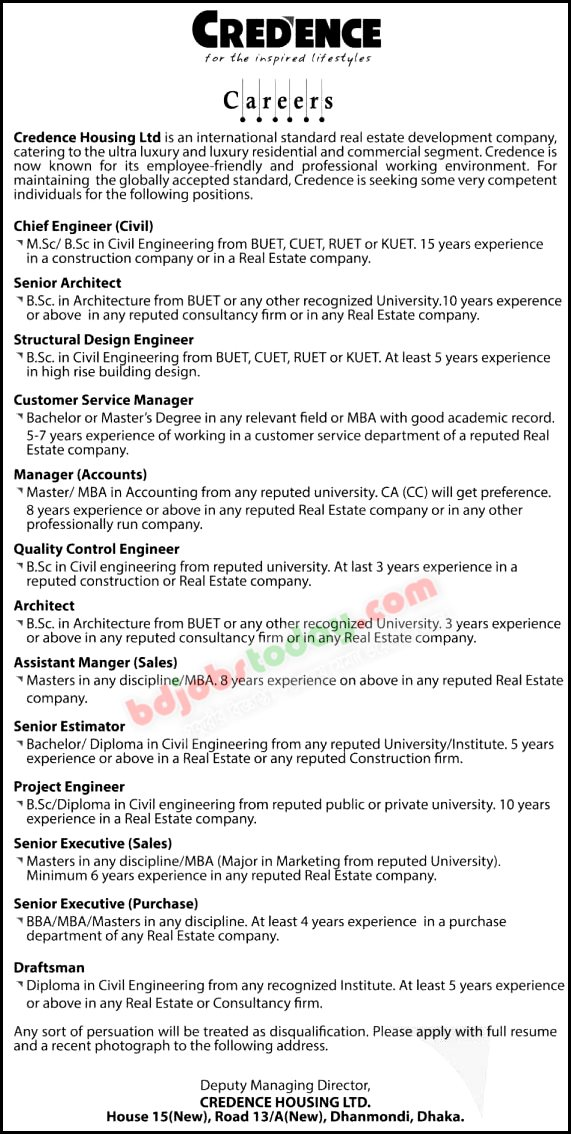 Credence Housing Ltd jobs