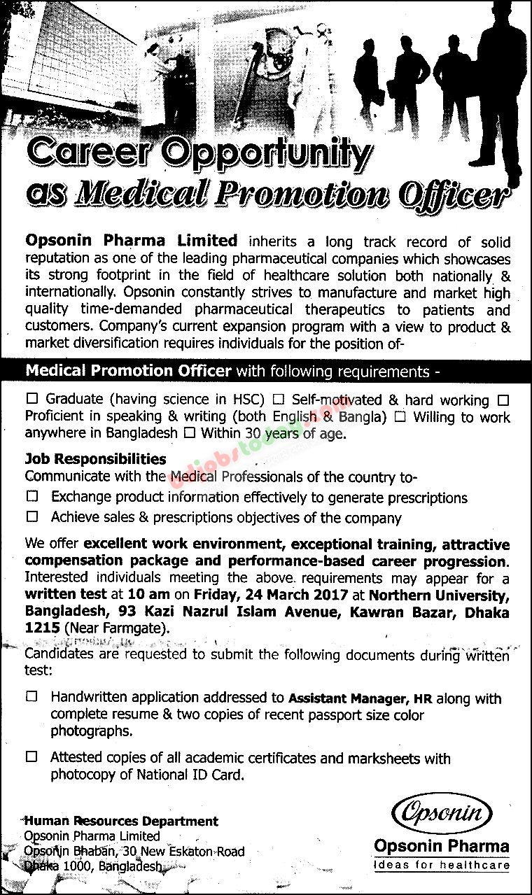 Opsonin Pharma Limited jobs