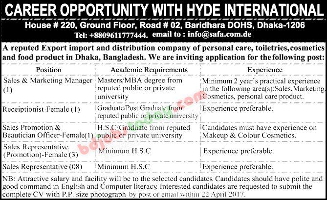 position sales representative hyde international jobs - International Sales Representative
