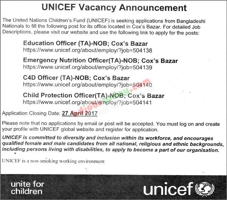 unicef bangladesh   u0026quot education officer