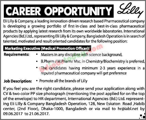 "Eli Lilly & Company, ""Marketing Executive (Medical Promotion"
