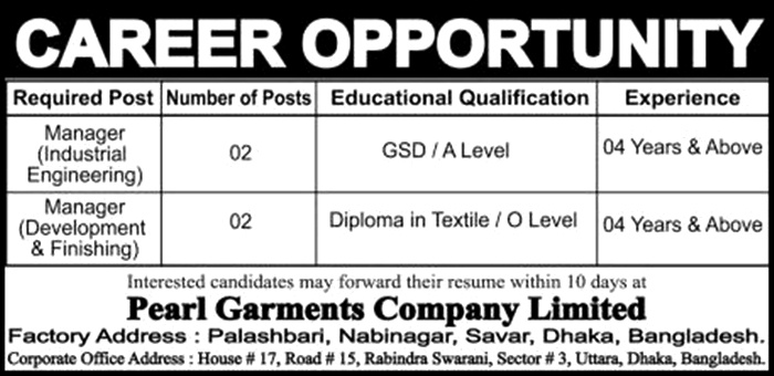 Pearl Garments Company Limited,
