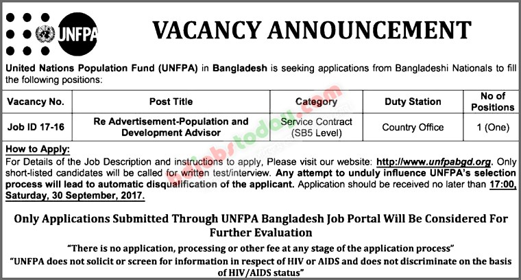 United Nations Population Fund-UNFPA jobs