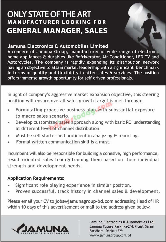 jamuna electronics and automobiles limited jobs - Electronics Sales Jobs