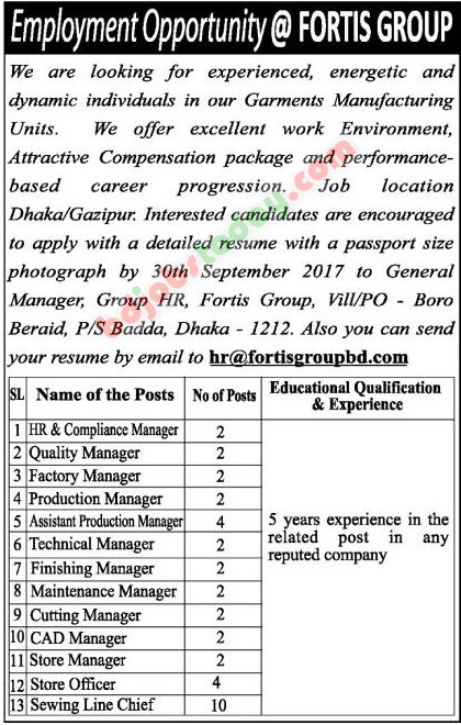 Fortis Group jobs