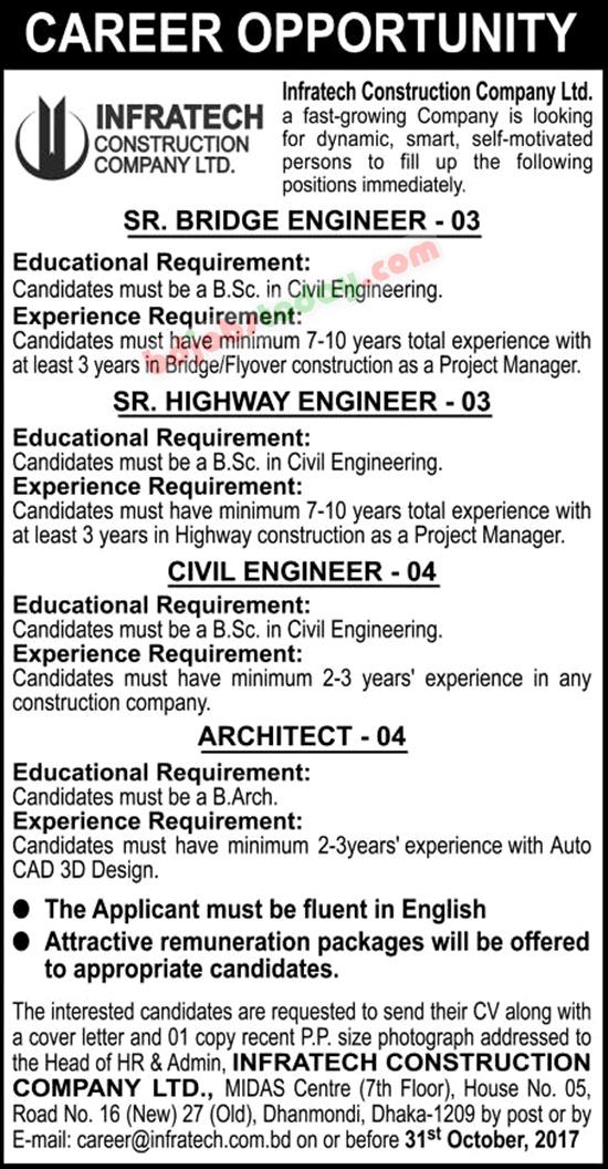 Position : Senior Bridge Engineer
