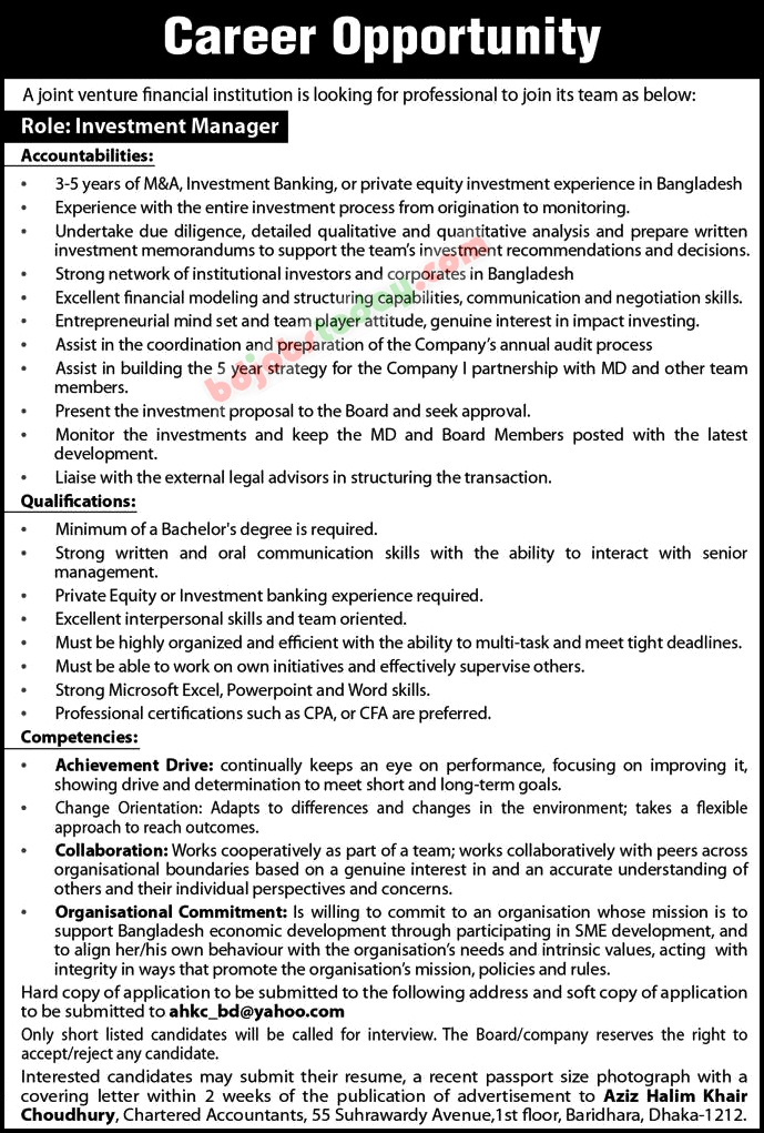 A Joint Venture Financial Institution jobs