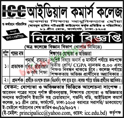 Ideal Commerce College jobs