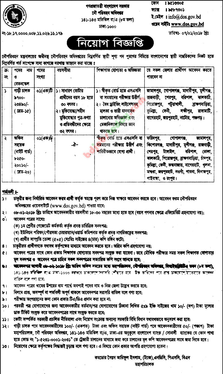 Department of Shipping jobs