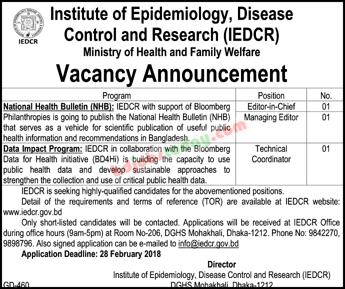 Institute Of Epidemiology Disease Control And Research Iedcr