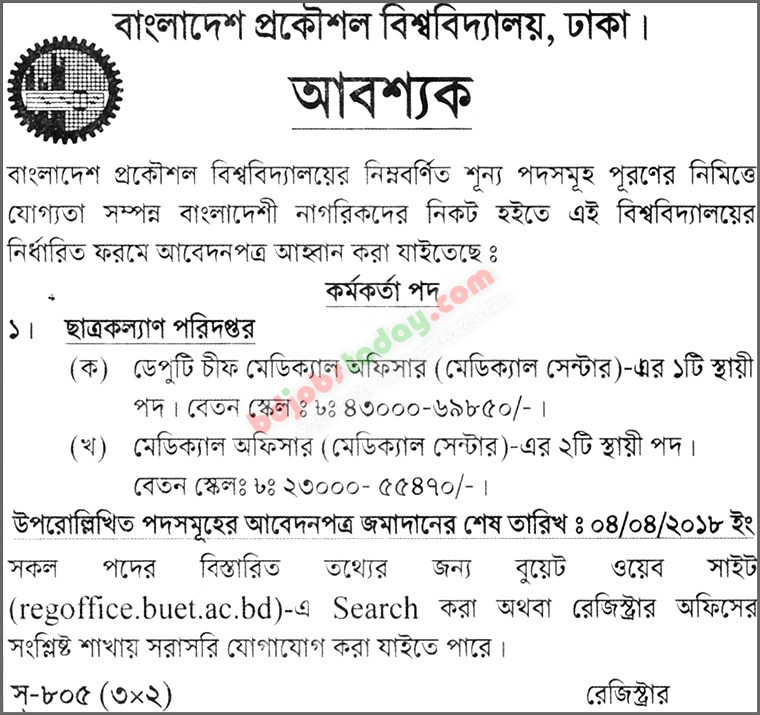 Bangladesh University Of Engineering And Technology Buet Deputy