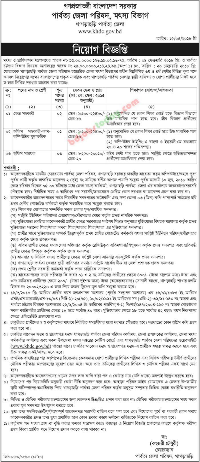 Khagarachari Hill District Council jobs
