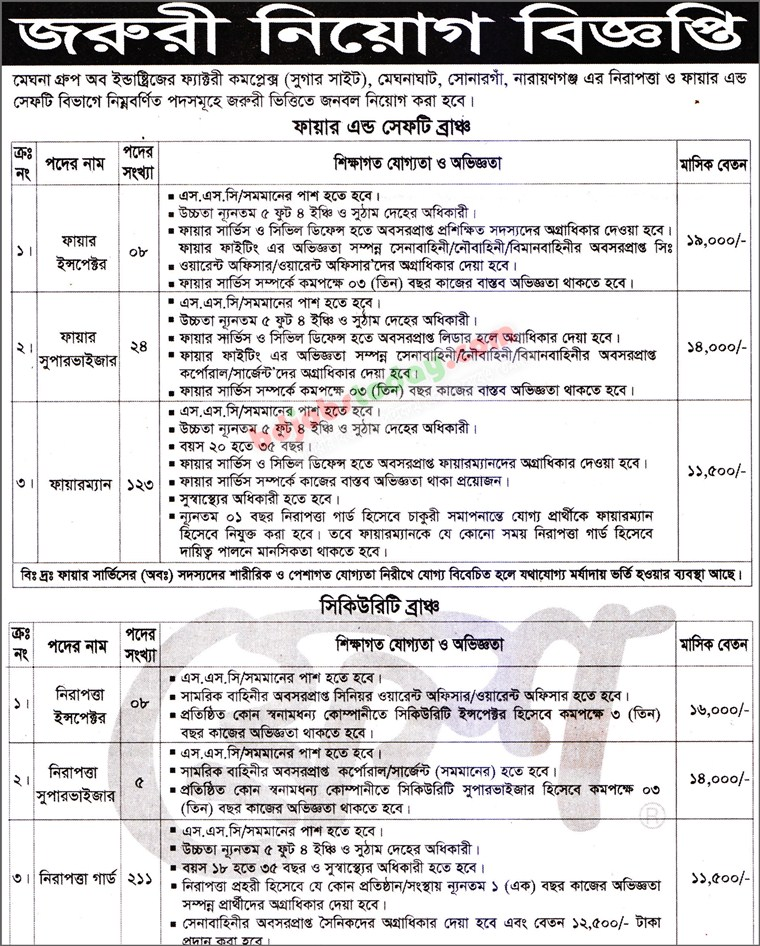 Meghna Group of Industries jobs