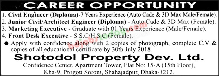 Shotodol Property Dev. Ltd jobs