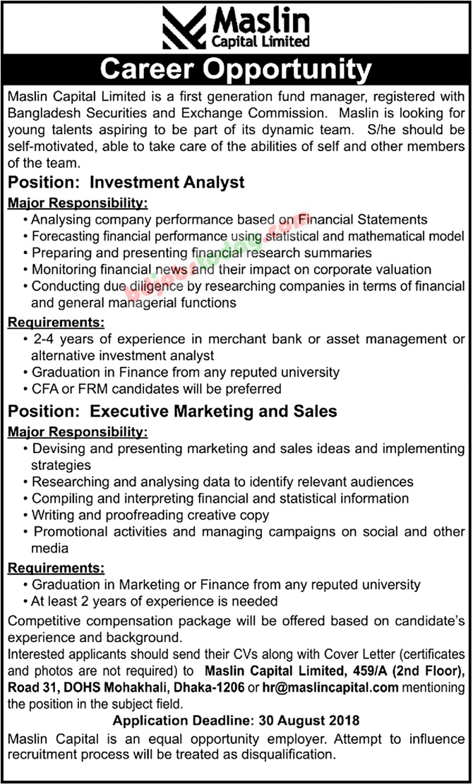 Maslin Capital Ltd jobs