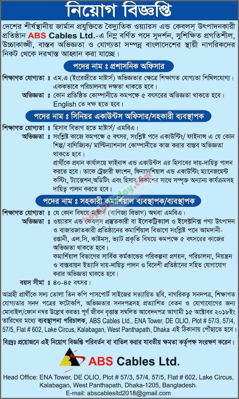 ABS Cables Ltd jobs