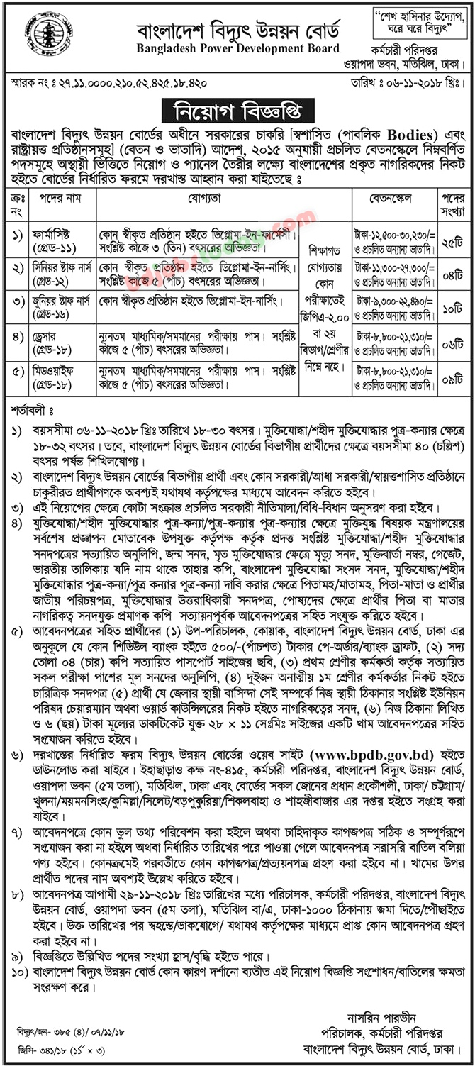 Bangladesh Power Development Board-BPDB jobs