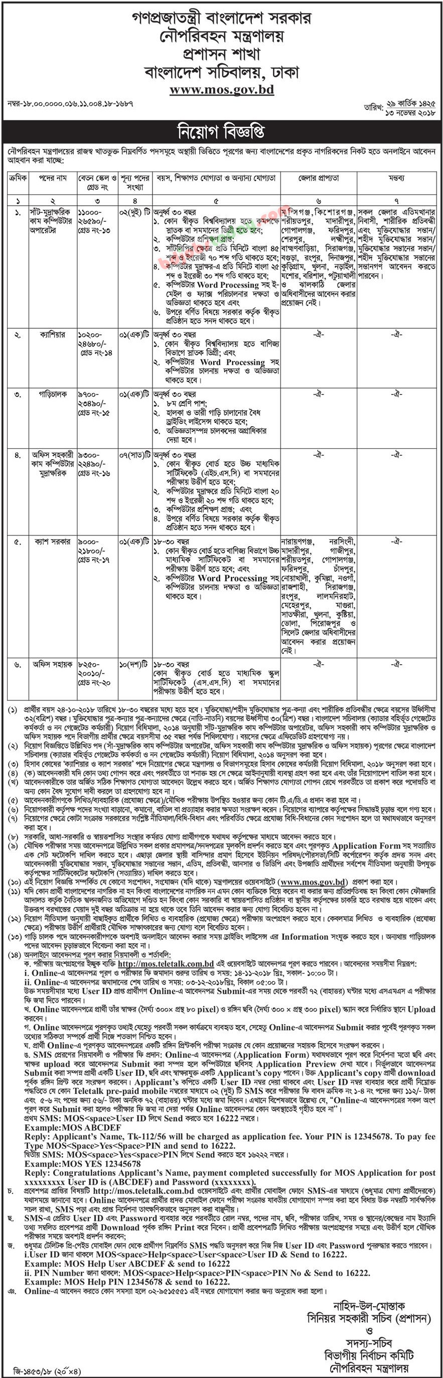 Ministry of Shipping jobs