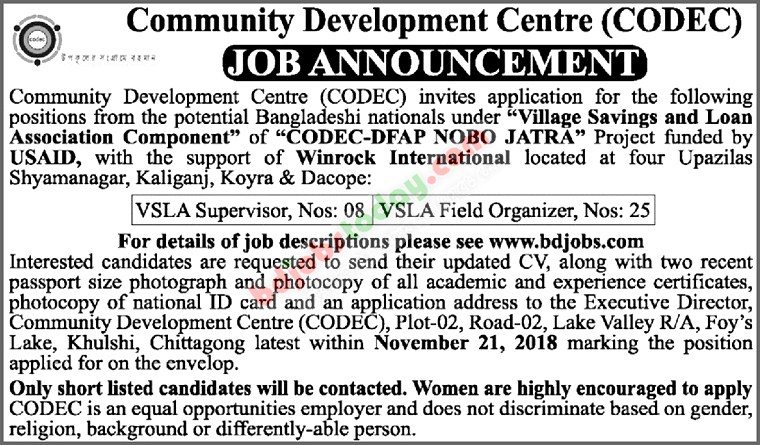 Community Development Center-CODEC jobs