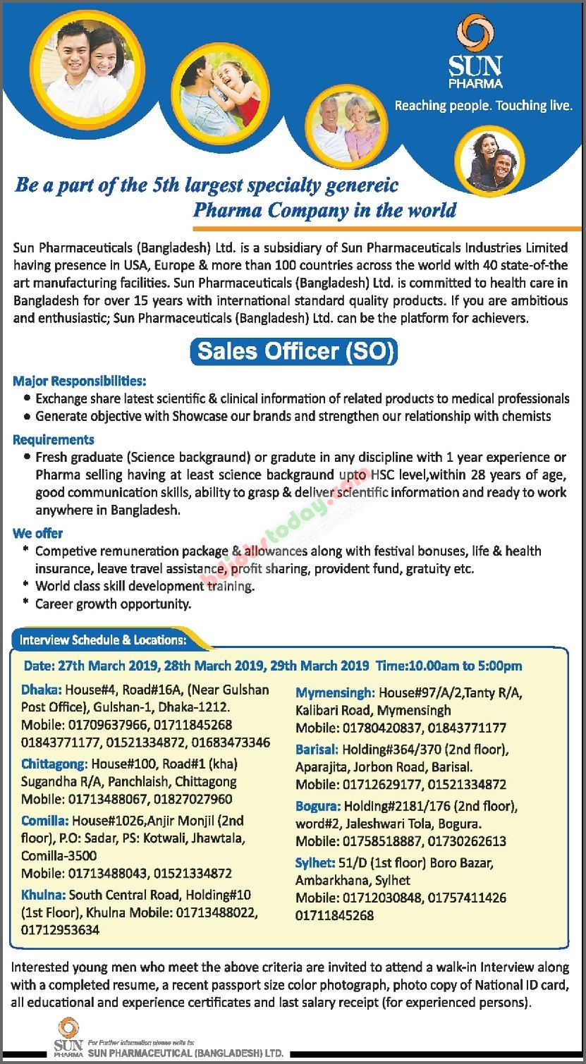 Sun Pharmaceutical (Bangladesh) Limited,